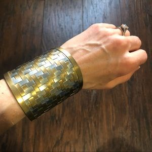 🦋 Gold and silver cuff